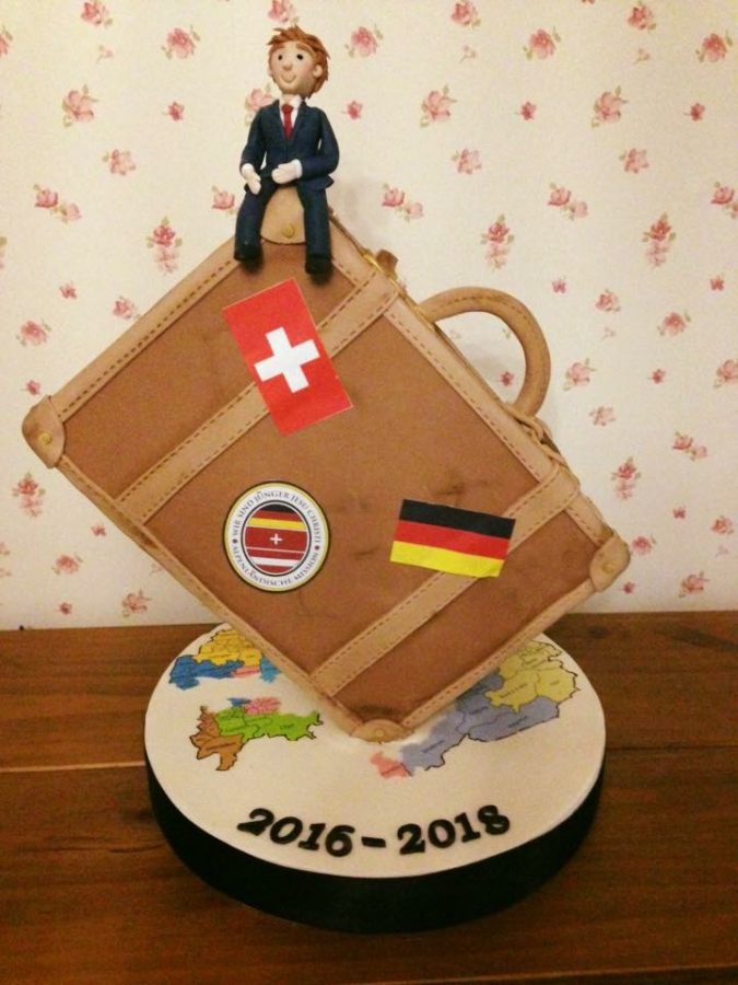 Gravity Defying Suitcase Cake Dreams And Wishes Cake Company