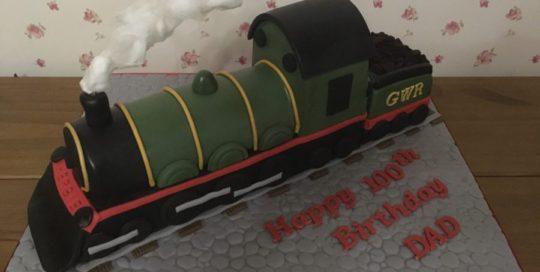 Steam Train Celebration Cake
