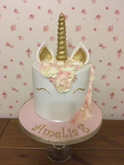 Unicorn Celebration Birthday Cake