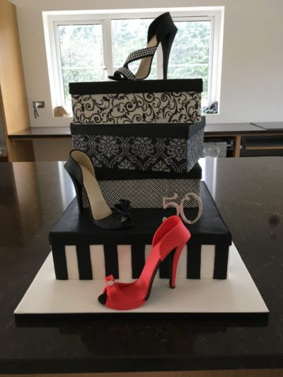 Shoe box celebration cake