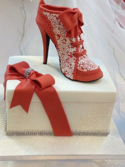Red Shoe Handmade Cake