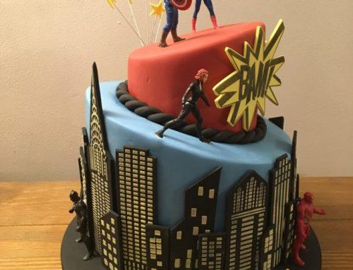 Comic Book Celebration Cake