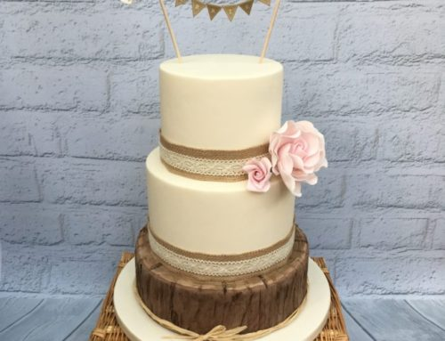 Rustic Log Wedding Cake