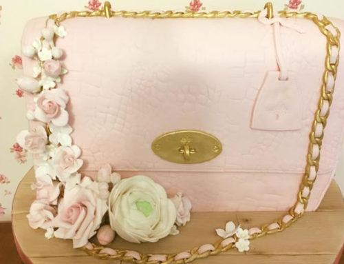 Mulberry bag & Rose Celebration Cake